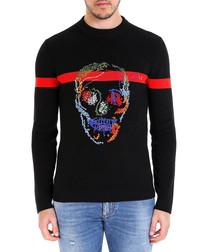 Skull Rammendo black cotton sweatshirt