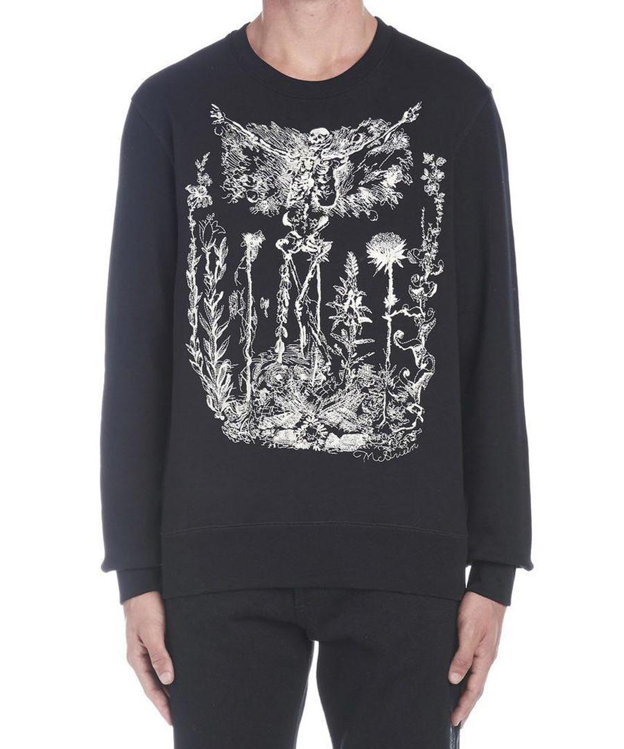 Black skeleton print sweatshirt Sale - alexander mcqueen