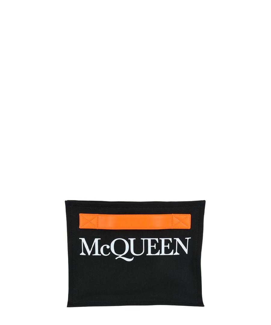 Black logo clutch Sale - alexander mcqueen