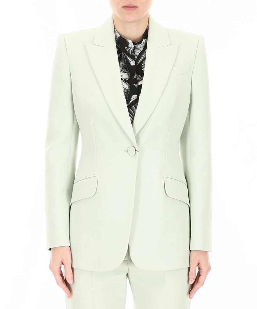 Light green wool & silk tailored jacket Sale - alexander mcqueen