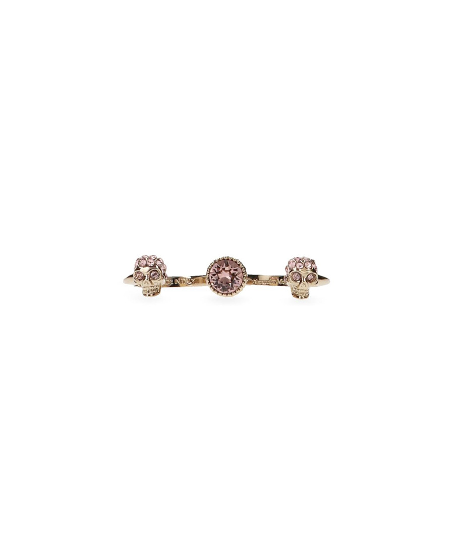 Rose gold-tone two finger ring Sale - alexander mcqueen