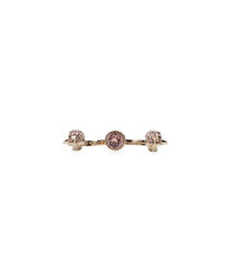 Rose gold-tone two finger ring