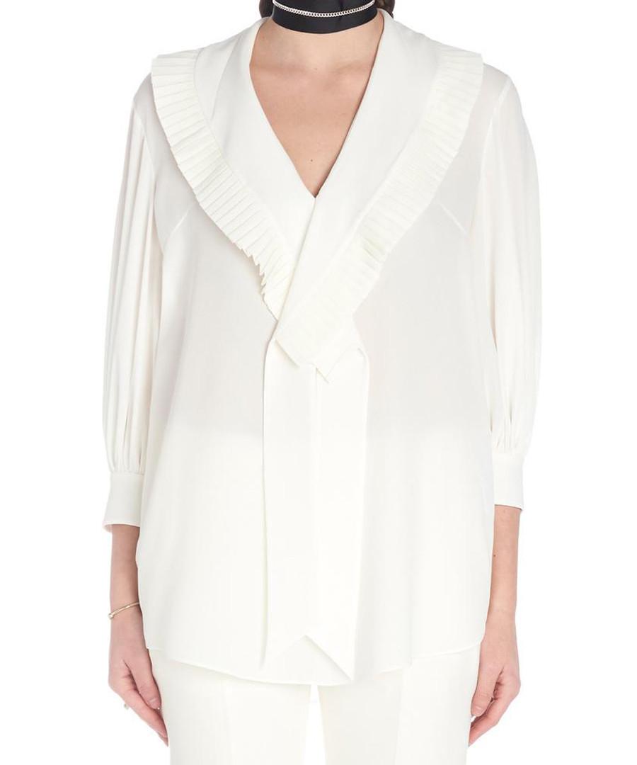 White pure silk crepe shirt Sale - alexander mcqueen