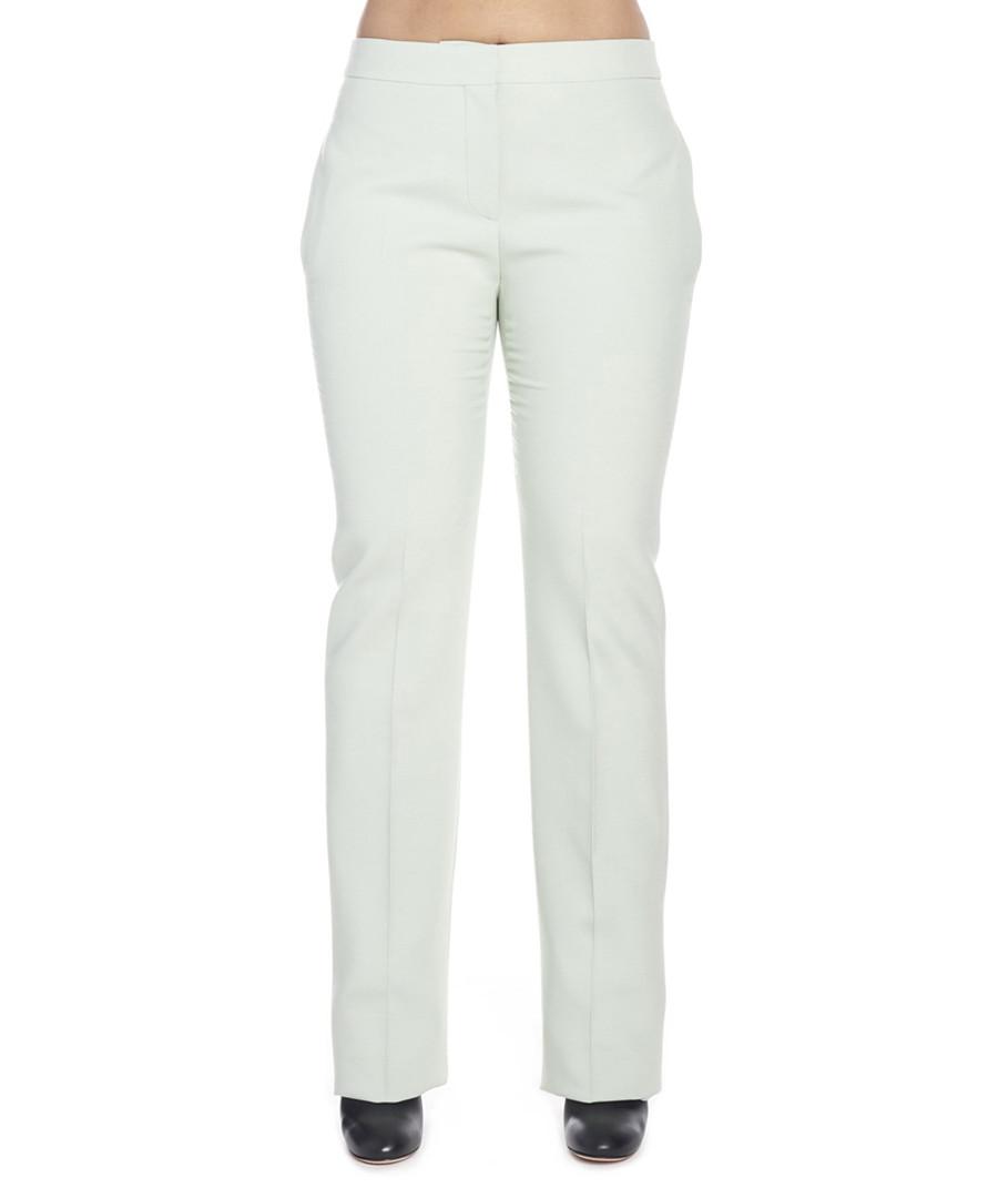 Pale green straight leg trousers Sale - alexander mcqueen