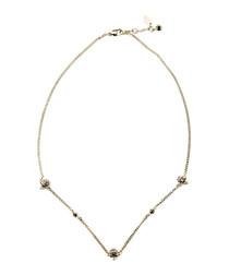 Silver-tone skull necklace