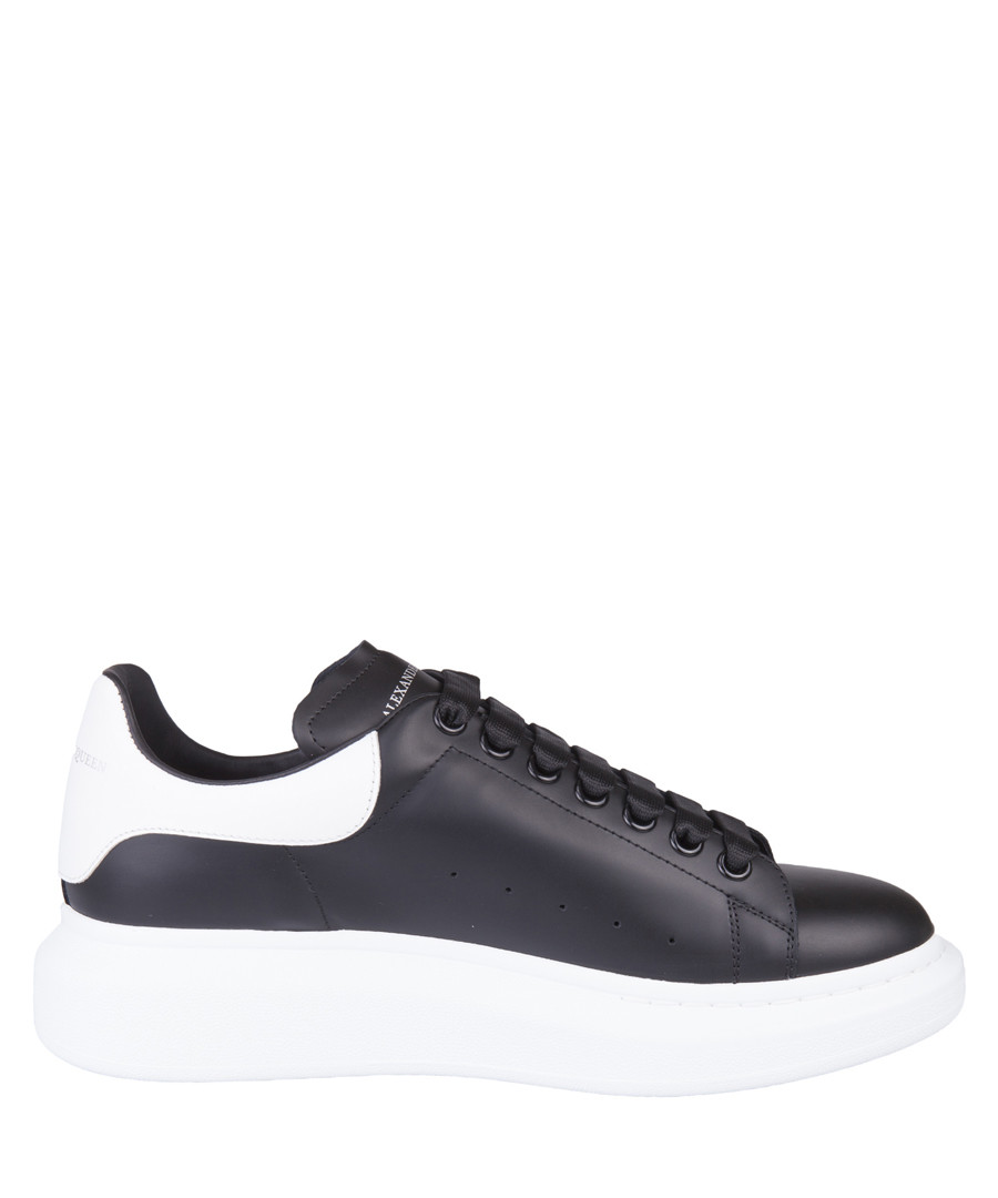 Oversized black leather sneakers Sale - alexander mcqueen