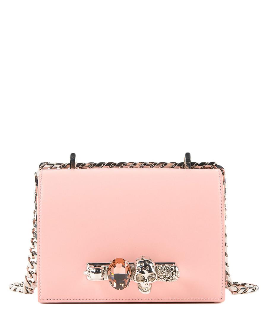 Pink leather knuckle crossbody Sale - alexander mcqueen