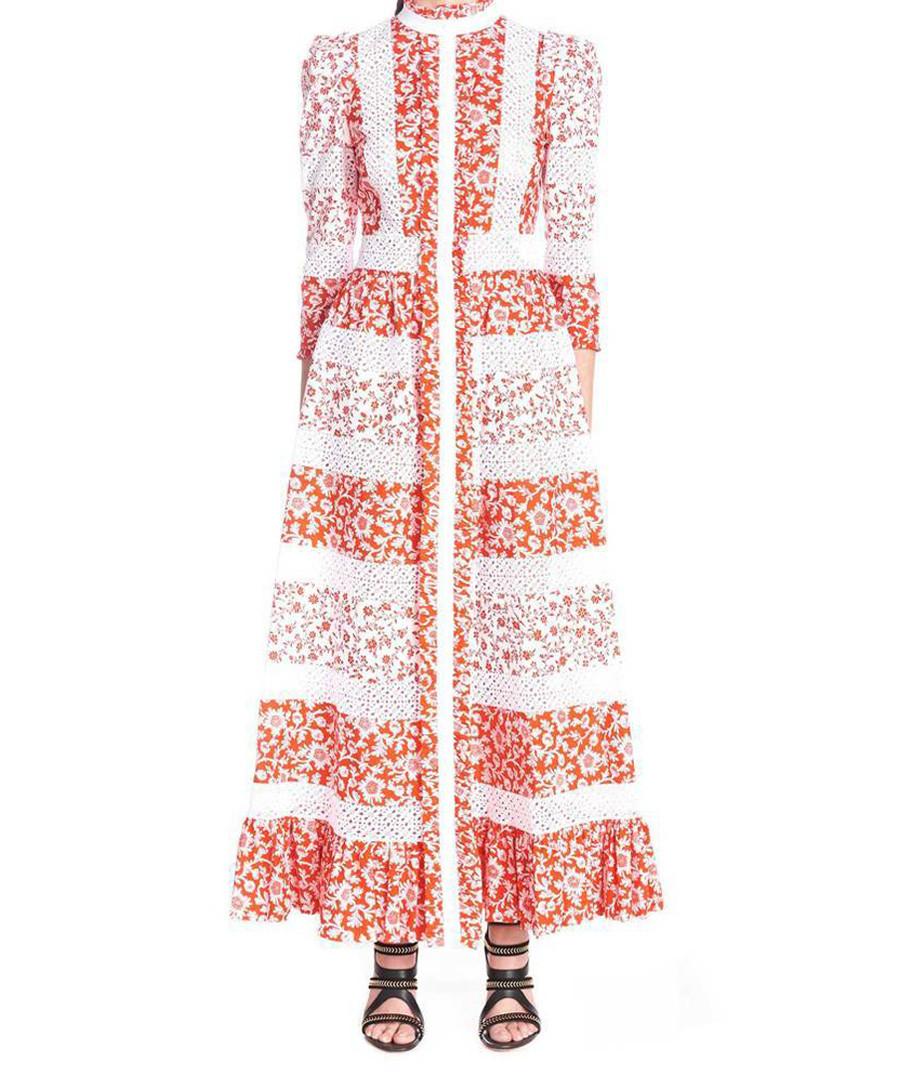 Multi-colour floral print maxi dress Sale - alexander mcqueen