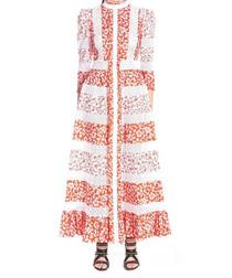 Multi-colour floral print maxi dress