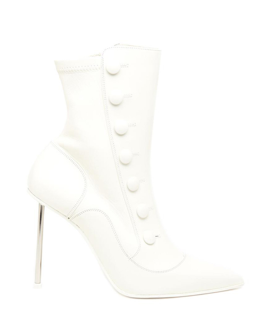 Victorian white leather ankle boots Sale - alexander mcqueen