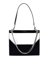 Monochrome leather chain bag