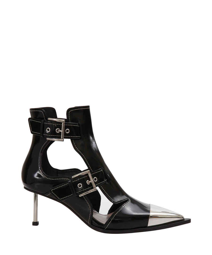Black patent leather buckle ankle boots Sale - alexander mcqueen