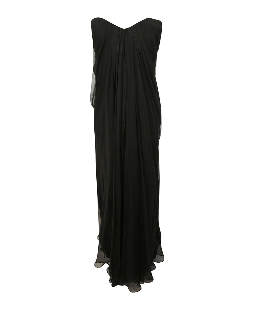 Black pure silk evening dress Sale - alexander mcqueen
