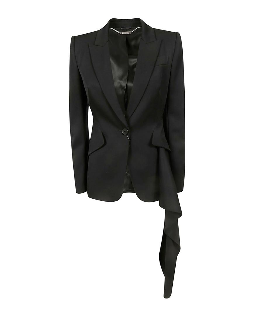 Black purer wool abstract blazer Sale - alexander mcqueen