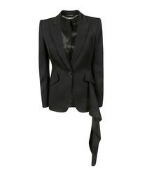 Black purer wool abstract blazer