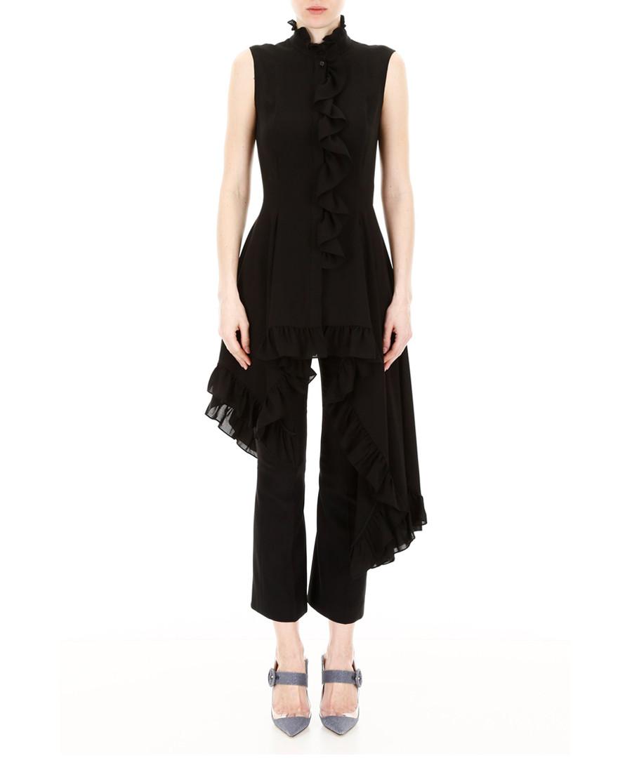 Black pure silk sleeveless shirt Sale - alexander mcqueen