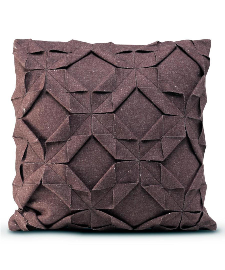 Origami burgundy cushion cover 50x50 Sale - happy friday
