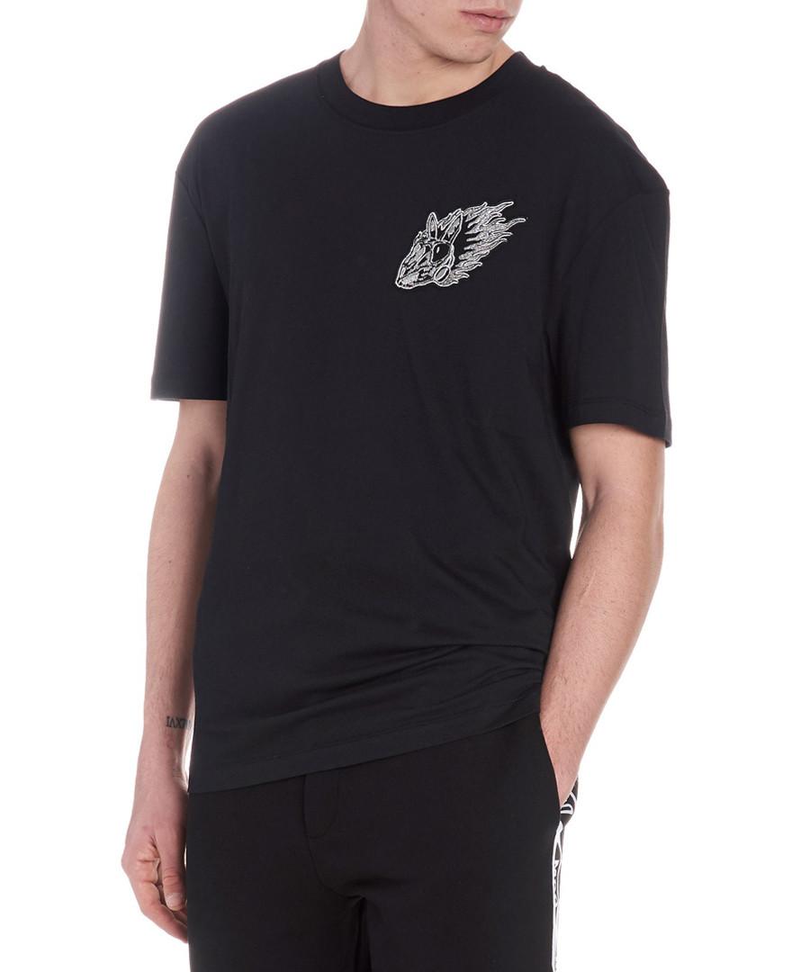 Black cotton logo T-shirt Sale - mcq alexander mcqueen