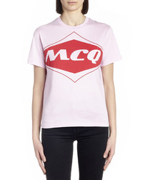 Pink pure cotton logo T-shirt