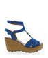 Electric blue leather wedges Sale - fly london Sale
