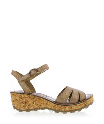 Luna leather wedge sandals