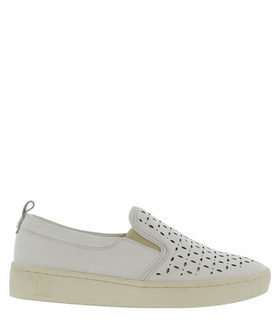 Off white leather casual slip-ons Sale - fly london