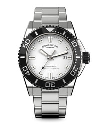 Automatic Diver silver-tone steel watch