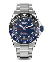 GMT Silver-tone stainless steel watch