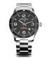 Silver-tone & black steel watch Sale - Armand Nicolet Sale