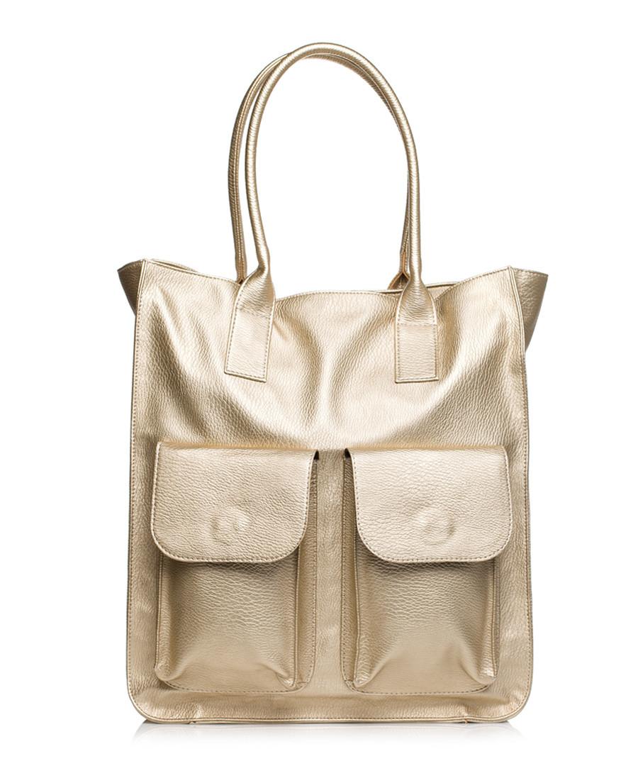 Gold-tone pocket shopper Sale - stylove bags