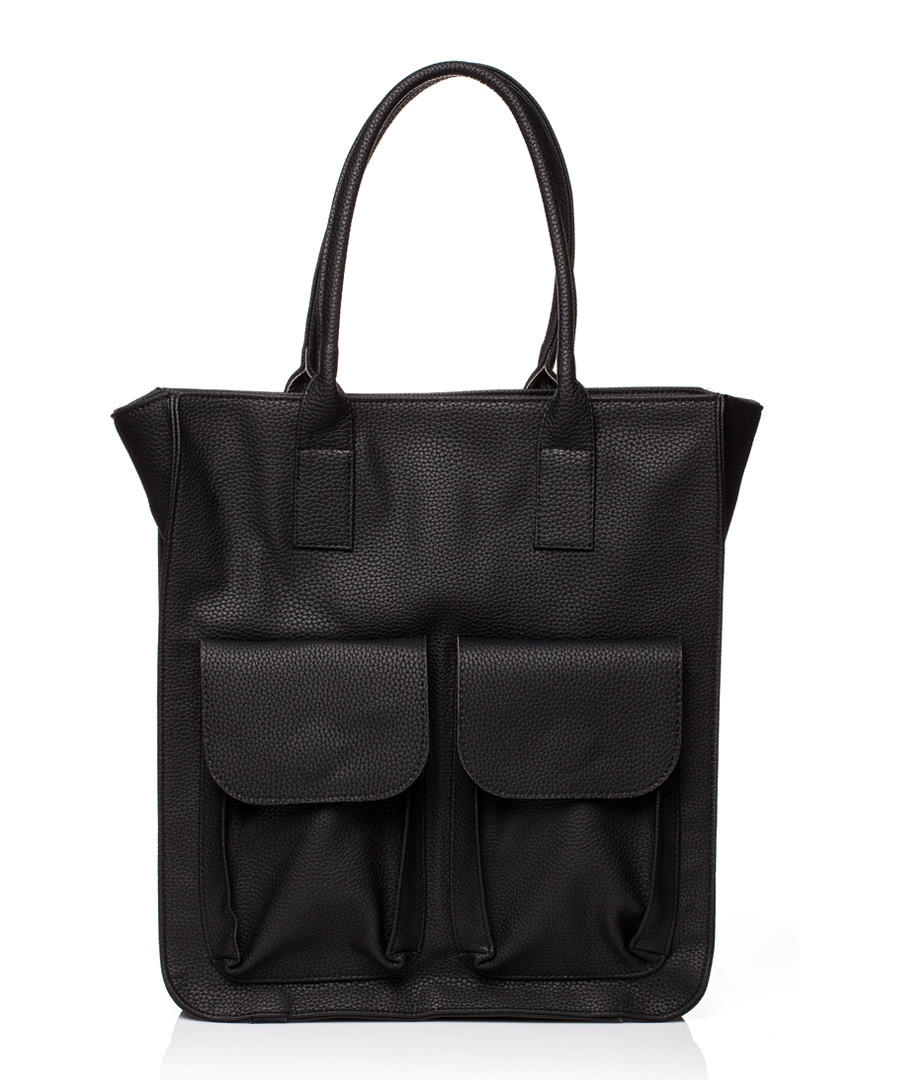 Black pocket shopper Sale - stylove bags
