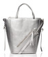 Silver-tone large trapeze shaped tote Sale - stylove bags Sale