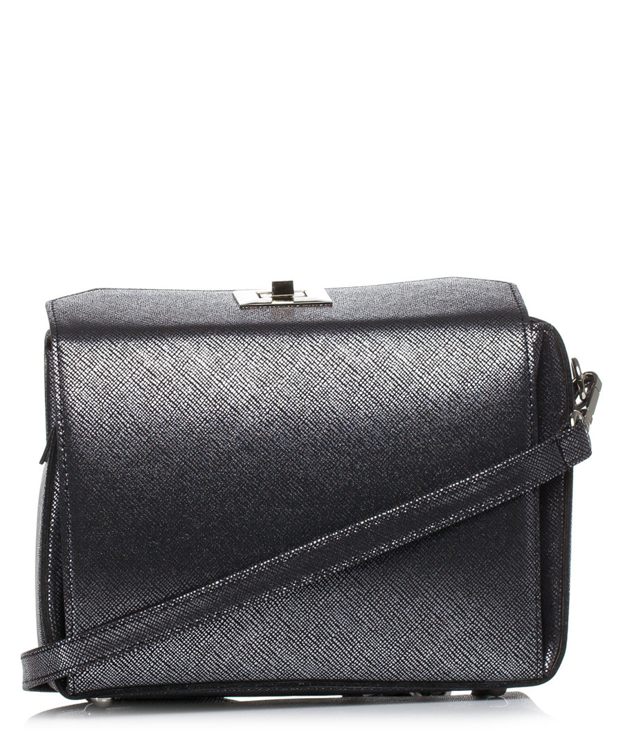 Silver-tone box-shaped clutch Sale - stylove bags