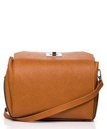 Ginger box-shaped clutch