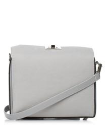 Grey box-shaped clutch