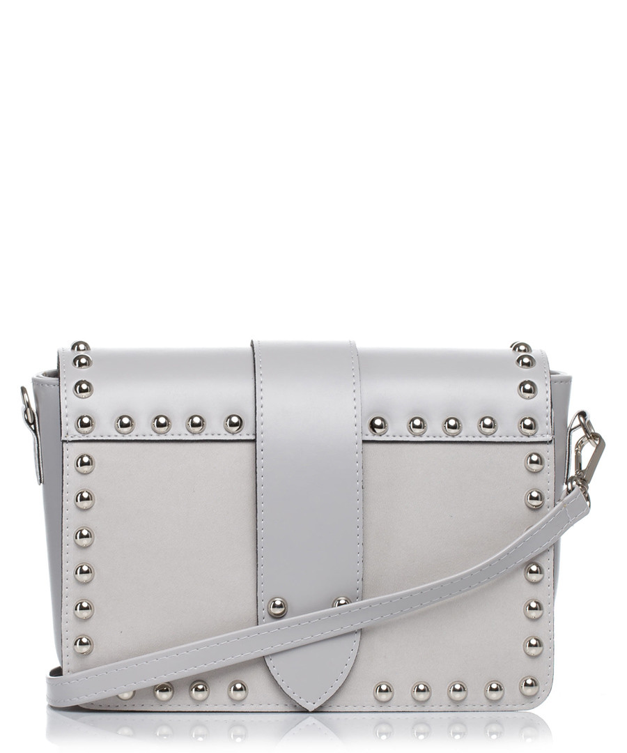 Grey studded shoulder bag Sale - stylove bags