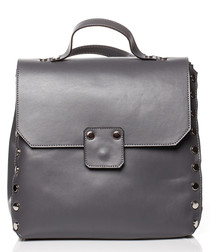 Graphite studded box backpack