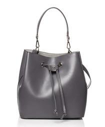 Graphite drawstring bucket bag