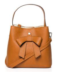 Ginger bow bucket bag