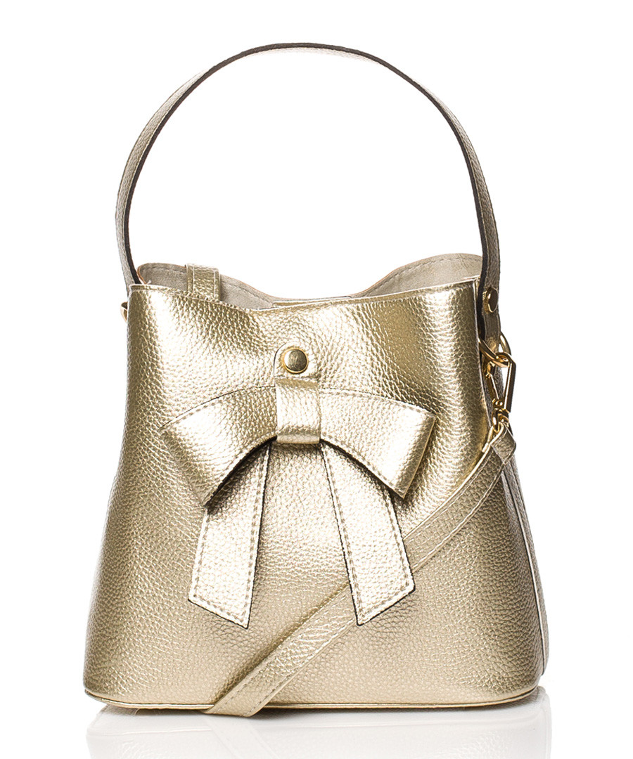 Gold-tone bow bucket bag Sale - stylove bags