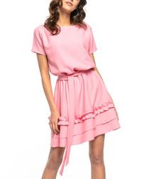 Pink casual mini dress