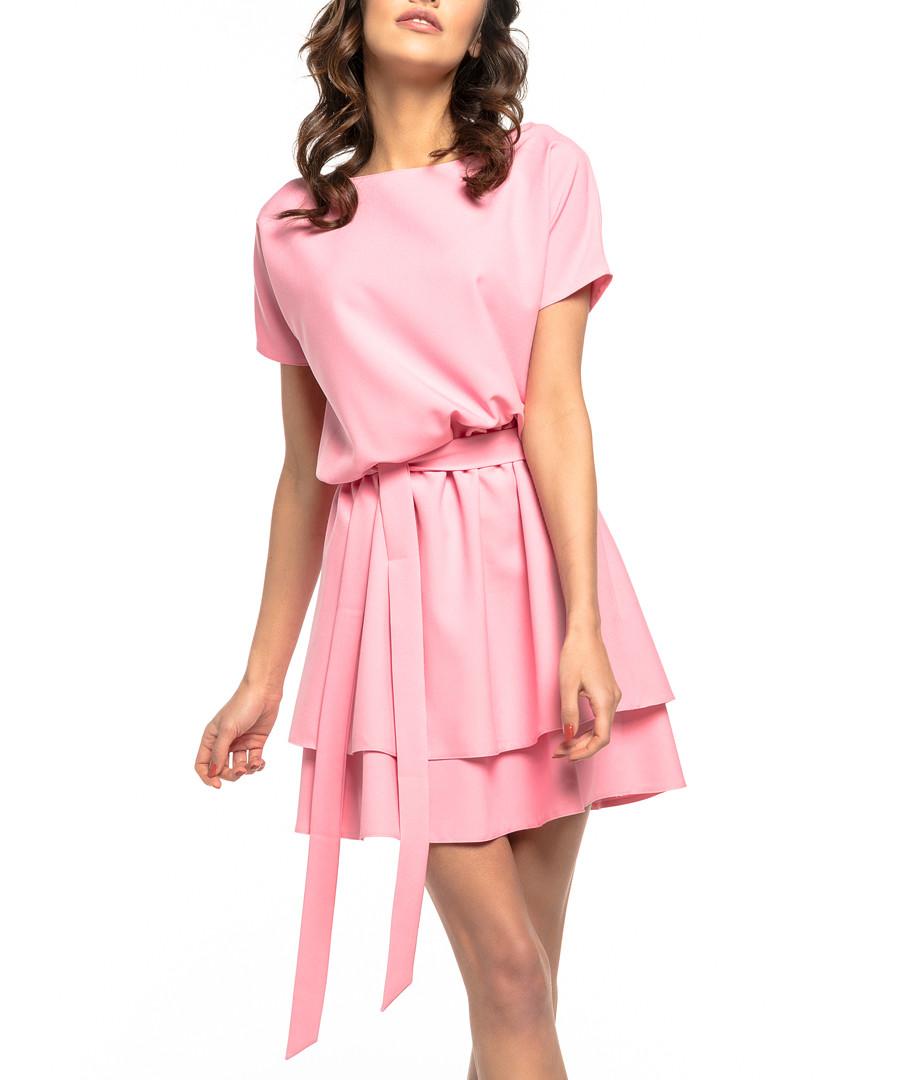 Pink tiered casual mini dress Sale - tessita