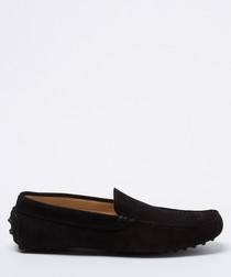 Benavides Black suede loafers