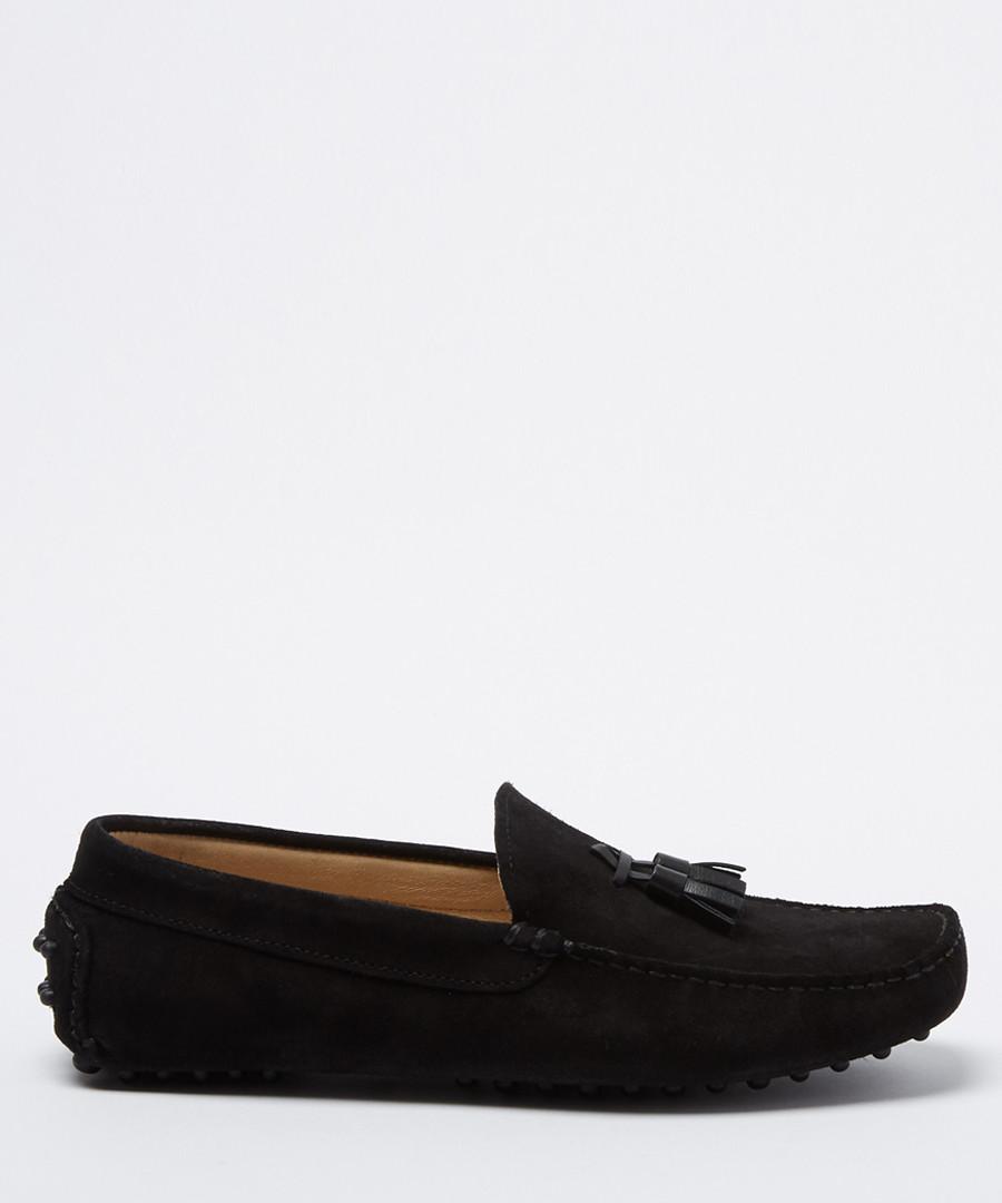 Velazques black suede tassel loafers Sale - moka saint