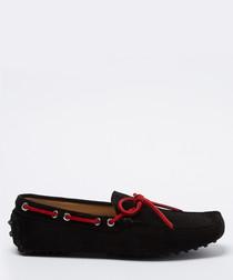 Salazar black & red suede loafers