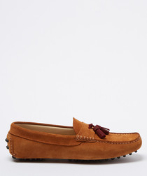 Velazques tan brown suede loafers
