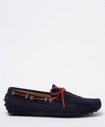 Salazar navy suede loafers