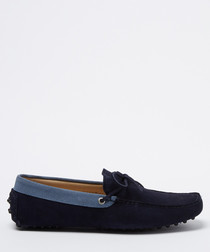 Moccasins navy suede loafers