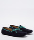Salazar navy & aqua suede loafers Sale - moka saint Sale
