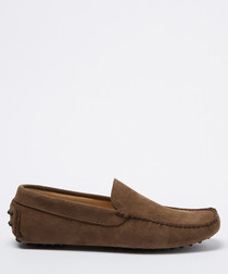 Benavides taupe suede loafers
